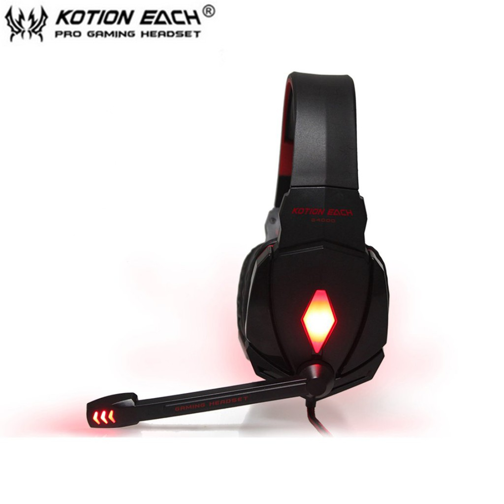 👍EACH G4000 Stereo Gaming Headphone Headset Mic Volume Control Gaming  Headset