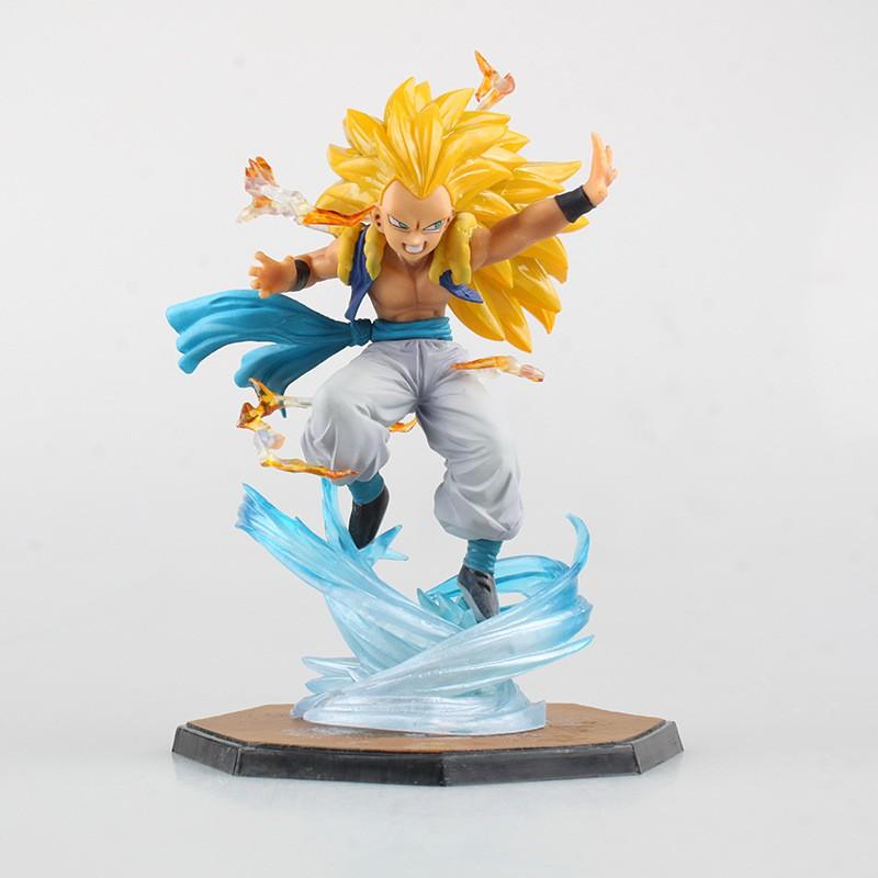 Anime Figuarts Zero 7 Dragon Ball Z Super Saiyan 3 Gotenks PVC Figures Model Toy