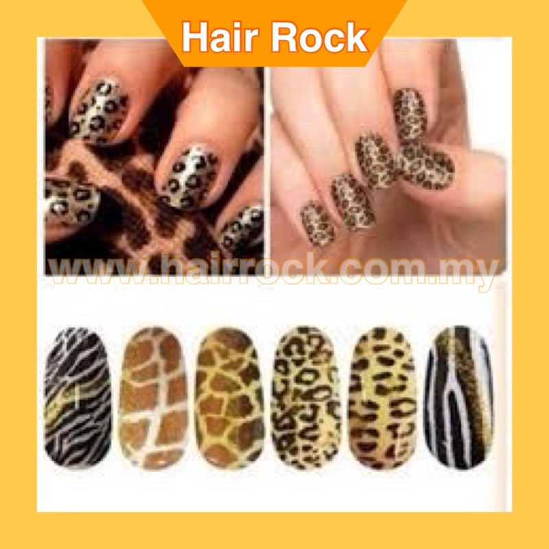 Waterproof Environmental Friendly Full Cover Wraps Nail Art Stickers