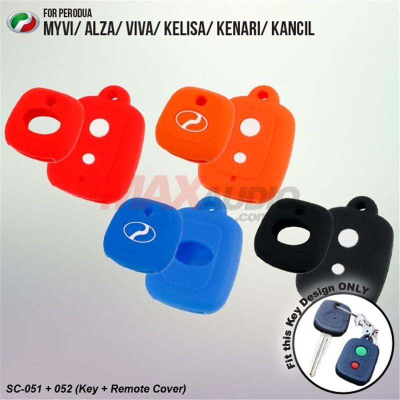 [FREE Gift] PERODUA MYVI ALZA VIVA KELISA KENARI 2 IN 1 Silicone Key Cover