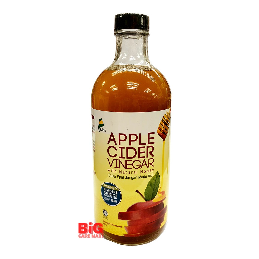 Surya Apple Cider Vinegar With Natural Honey Halal 450ml Shopee Malaysia