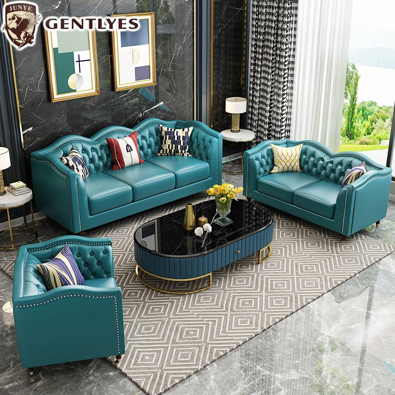 Living Room Furniture American Style Leather Sofa Shopee Malaysia