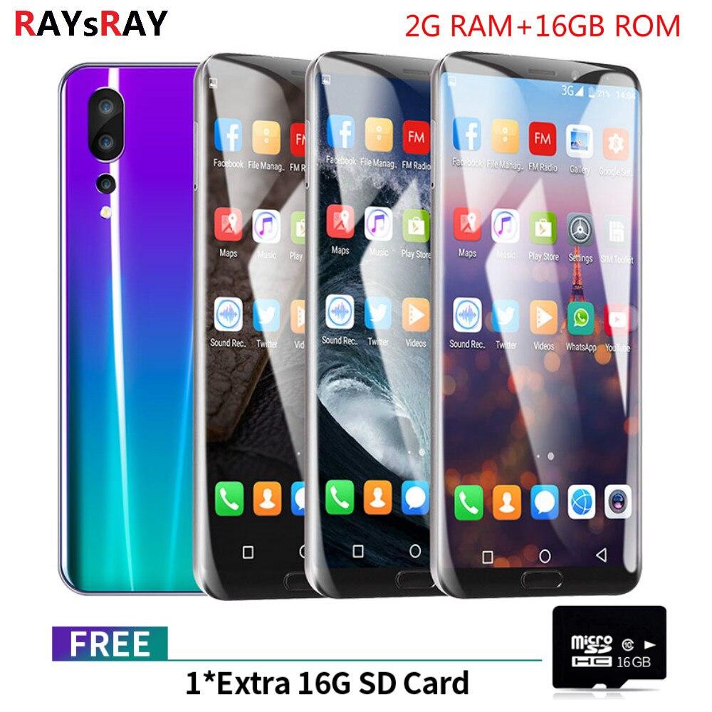 Raysray P20 Pro Mobile Phone 2GB+16GB Android 8 1 Dual SIM Smartphone 3G  Phone