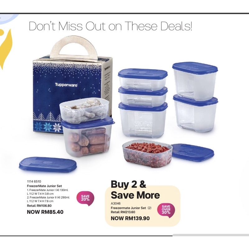 Tupperware FreezerMate Junior Set (8pcs)