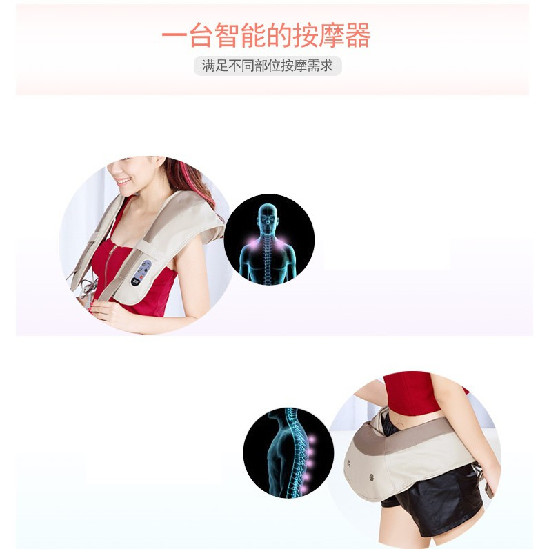 🚛Ready stock Local📦 Automatic Power Electric Back Neck Shoulder Massage Stress upto 99 modes 20level