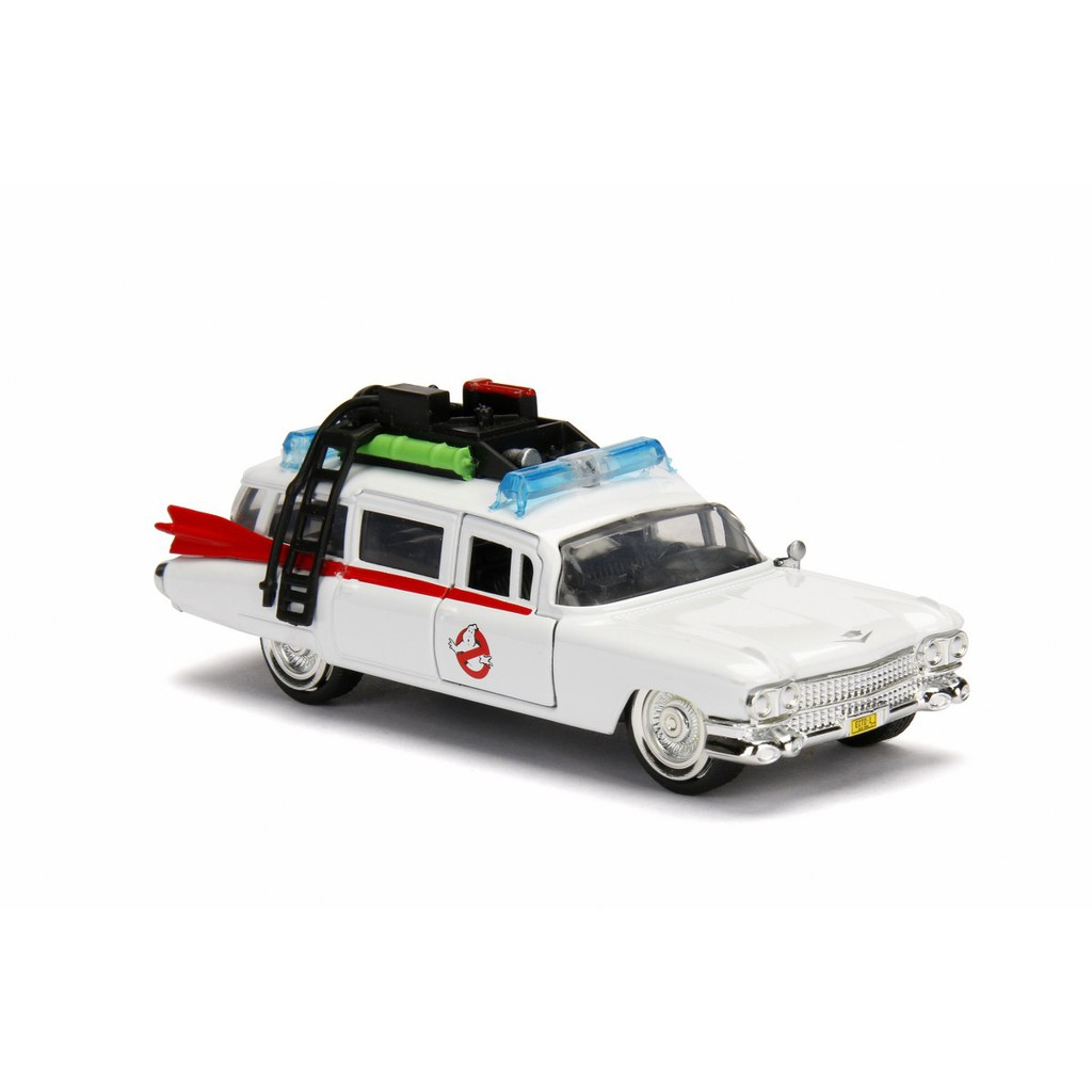 JADA 1:32 HOLLYWOOD RIDES METAL DIE CAST ECTO-1 GHOSTBUSTERS CAR (WHITE) MODEL COLLECTION 99748