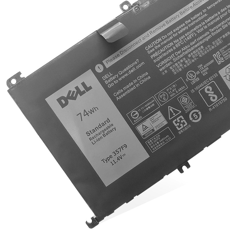 357F9 laptop battery for inspiron 15 7000 15 7559 7566 7567 7759 74wh