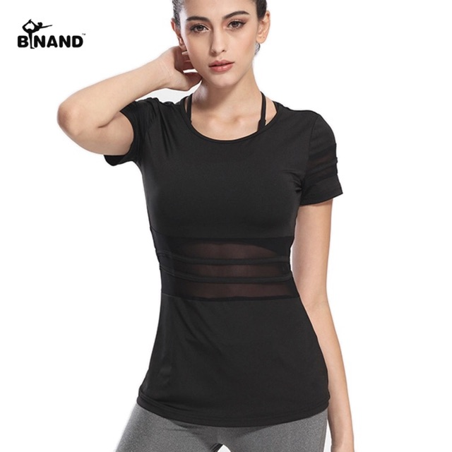 เสื้อออกกำลังกาย สีดำ (สินค้าพร้อมส