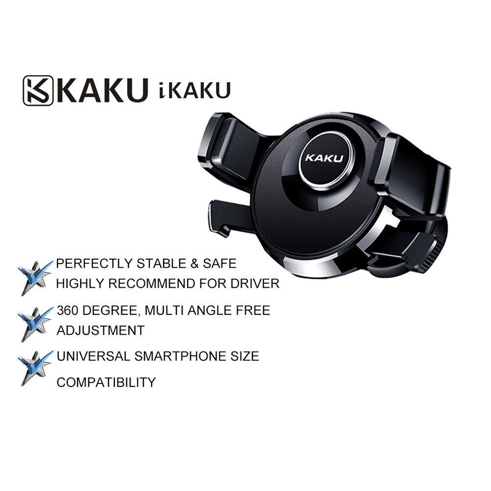 IKAKU KAKU CHEBAO Car Mount Phone Holder 360 Rotating Multi Angle Anti Slip Stable Universal Smartphone Compatibility