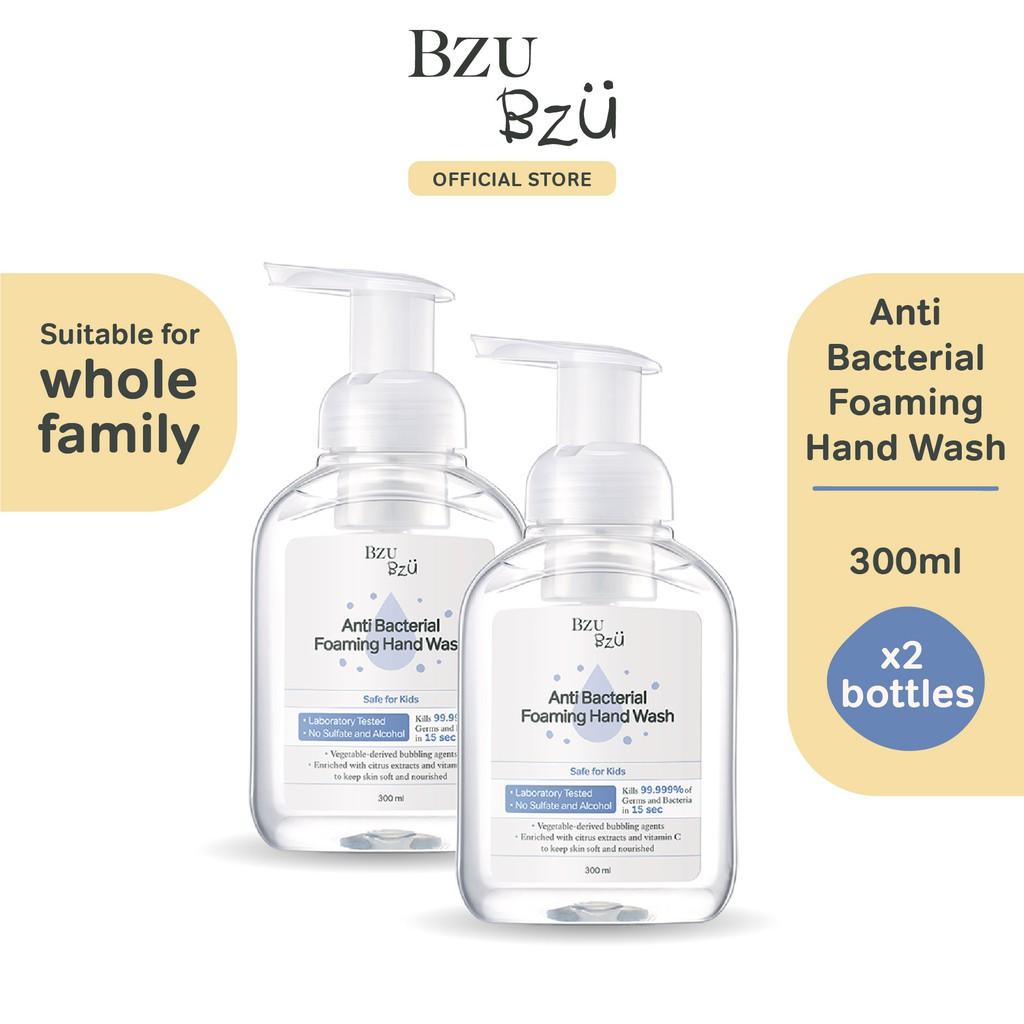BZU BZU Anti Bacterial Foaming Hand Wash (300ml x 2)