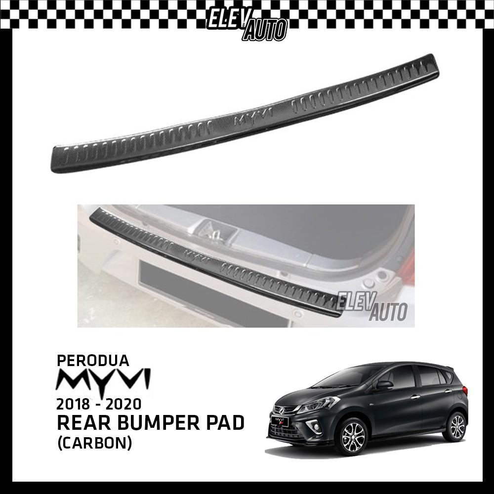 Perodua Myvi 2018-2021 Premium Carbon Bumper Guard Bumper Pad