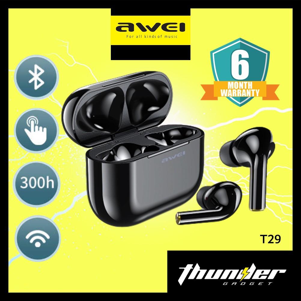AWEI T29 TWS Truly Bluetooth 5.0 Wireless Airpods HiFi Stereo Earbuds Earphones HeadPhone