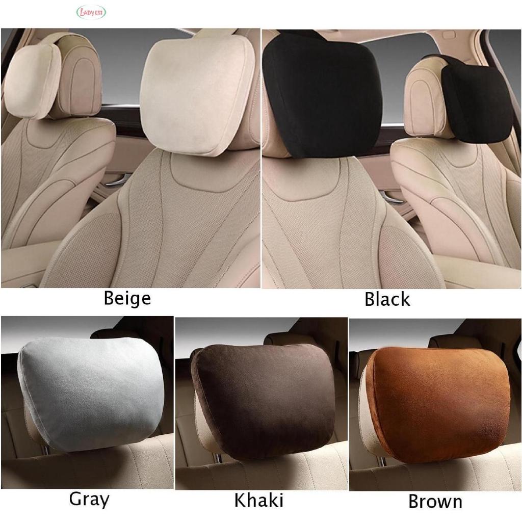 1 Pair Car Headrest Maybach Soft Pillow For Mercedes Benz
