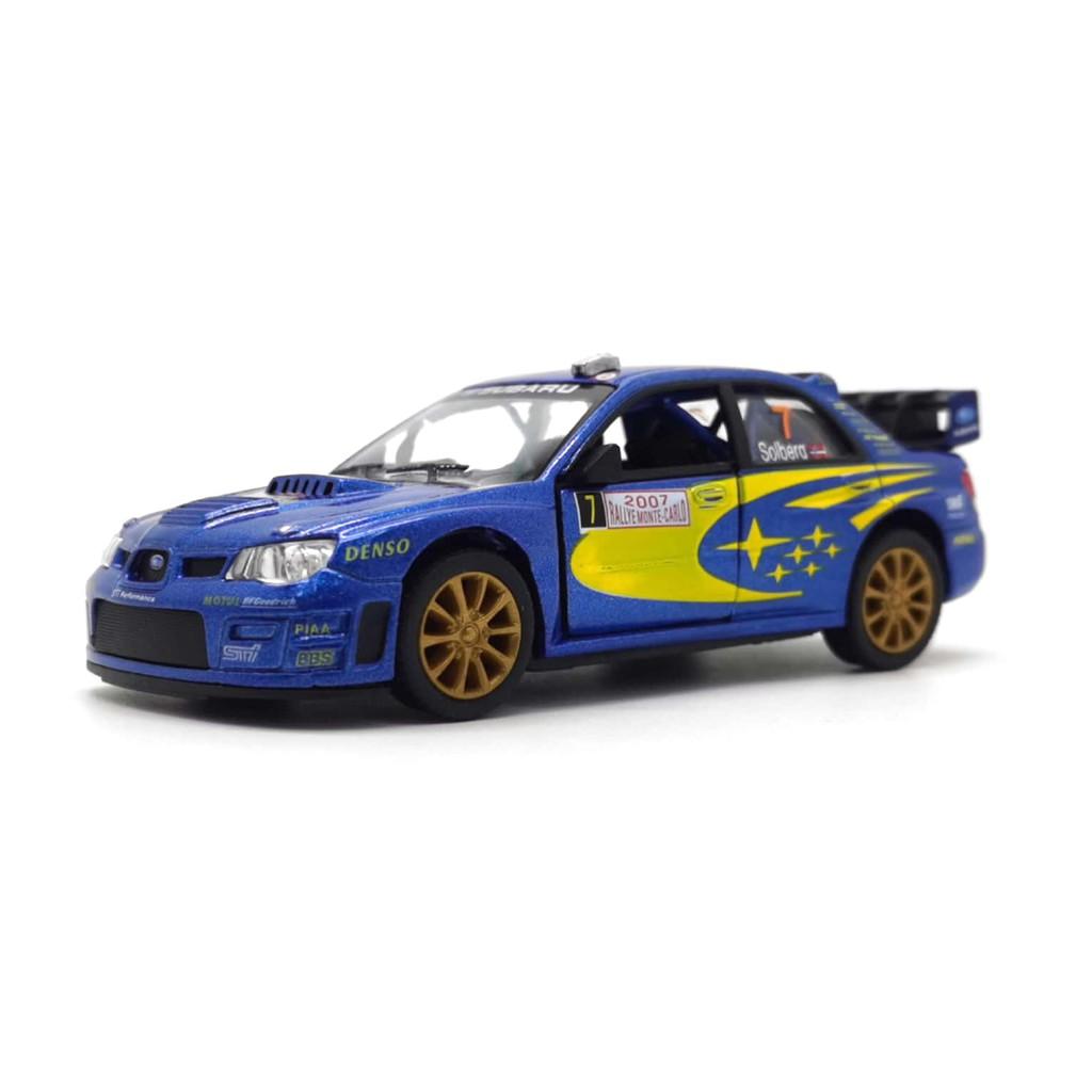 KINSMART 1:32-1:36 METAL DIE CAST SUBARU IMPREZA WRC 2007 CAR (BLUE) MODEL COLLECTION KT5328W