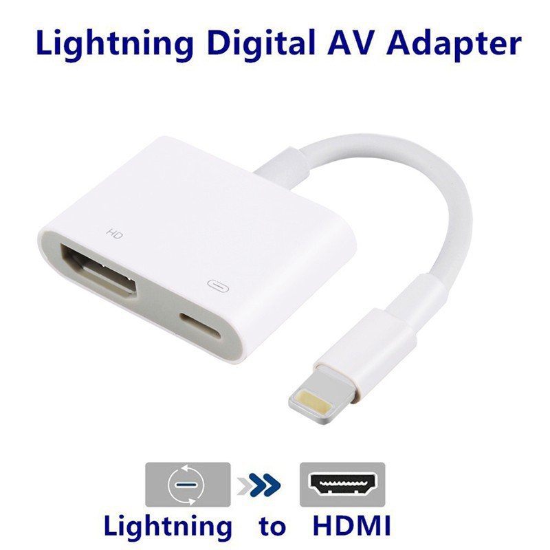 brand new 6be44 435ad Lightning to Digital AV TV HDMI Cable Adapter For Ipad air iphone 7 7Plus 8  X