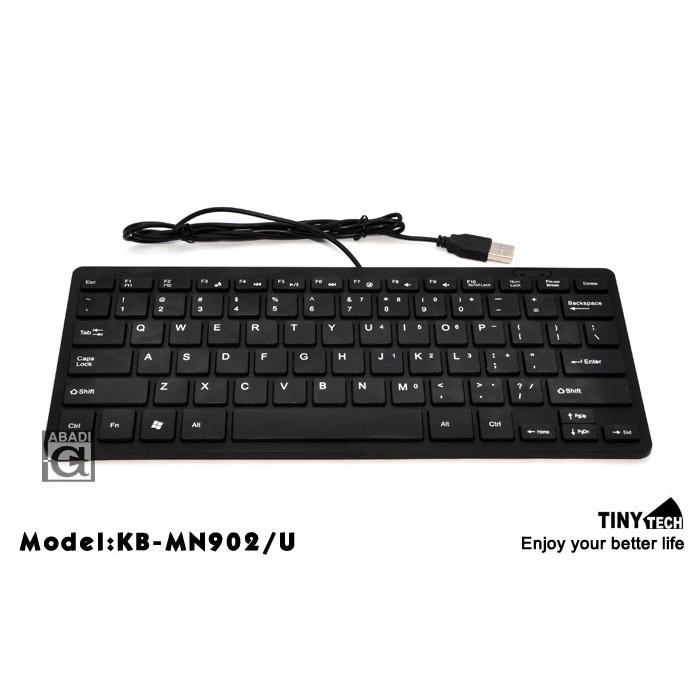 Tinytech Ultra slim chocolate key caps Design 78 keys Mini Keyboard magic button water proof usb arabic MN902