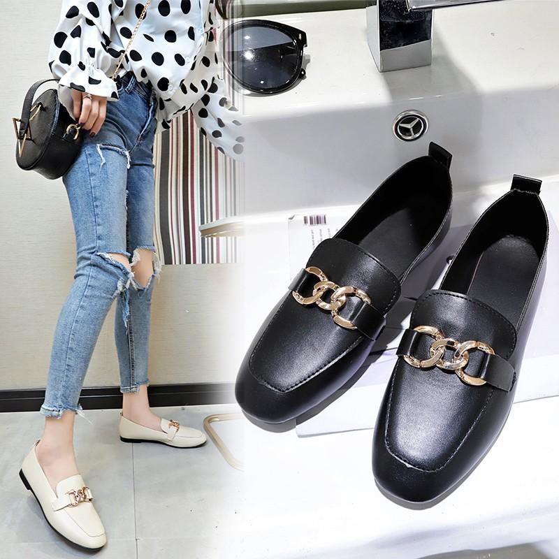 Casual Flat Shoes Slip-ons รองเท้าผู้หญิง รองเท้าแฟชั่