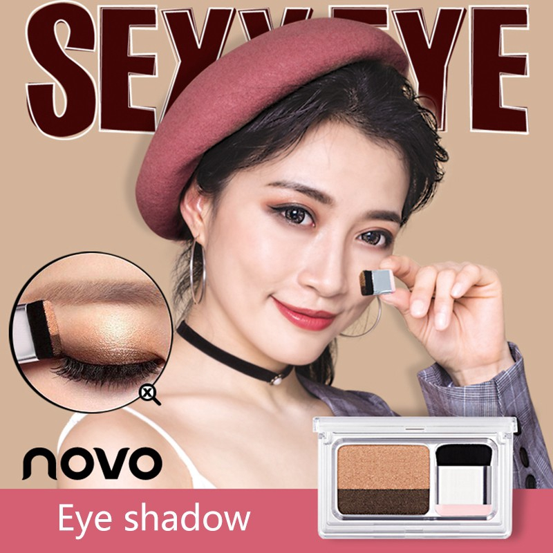 Small Magic Box Lazy Two-color Gradient Eye Shadow Seal Eye Shadow Powder Plate Gradient Beautiful Makeup Eye Shadow Tray Modern Techniques Beauty Essentials