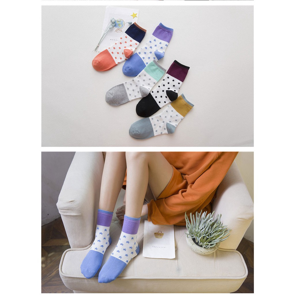Multi-Color Series Lace In The Tube Socks Creative Girl Small Stitching Socks EG
