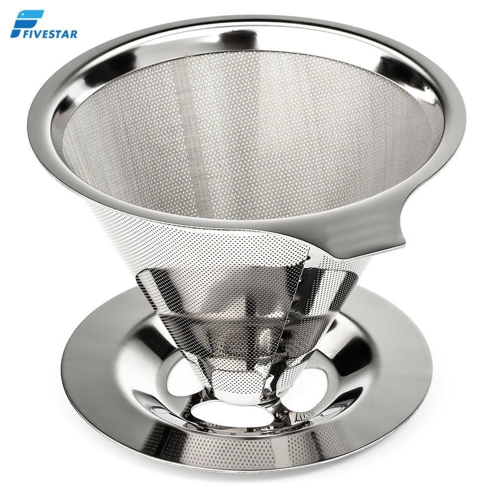 1pc Washable 304 Stainless Steel Cone