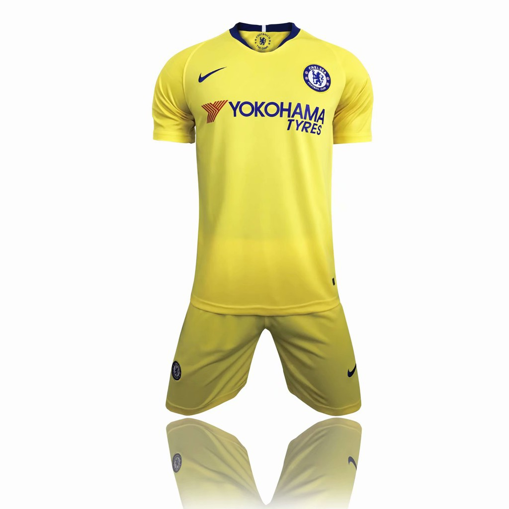 official photos a7867 0e053 2018-19 new season Chelsea away Azar 10th jersey adult football team  uniform sui