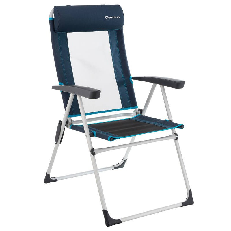 Decathlon Tilting Camping Chair Hiker S Camp Blue Shopee Malaysia
