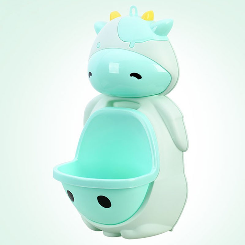 [FS]Kids Cow Potty Toilet Urinal Pee Trainer Wall-Mounted Toilet Green