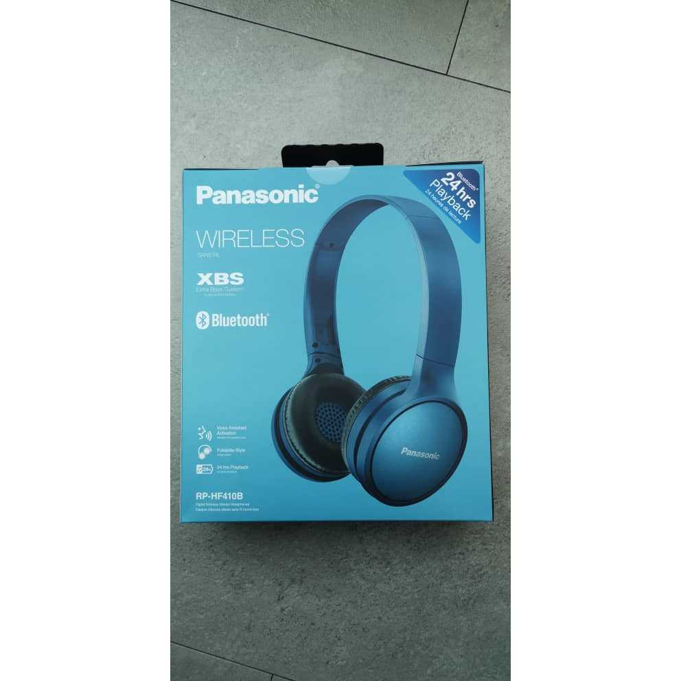 Panasonic RP-HF410B Bluetooth Headphones RP-HF410BE-K 24 Hours of Wireless Playback