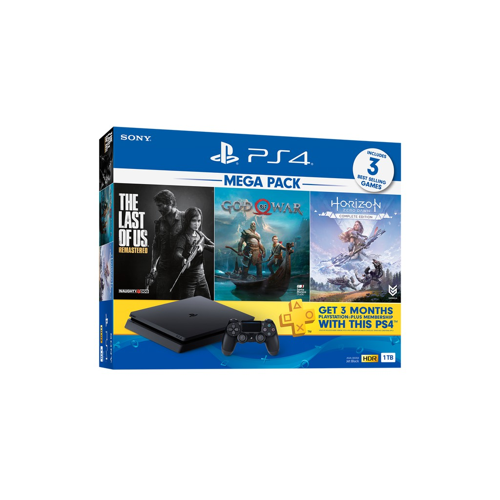 [100% AUTHORIZED]  PLAYSTATION 4 SLIM 1TB MEGA PACK BUNDLE + FREE NON WOVEN BAG