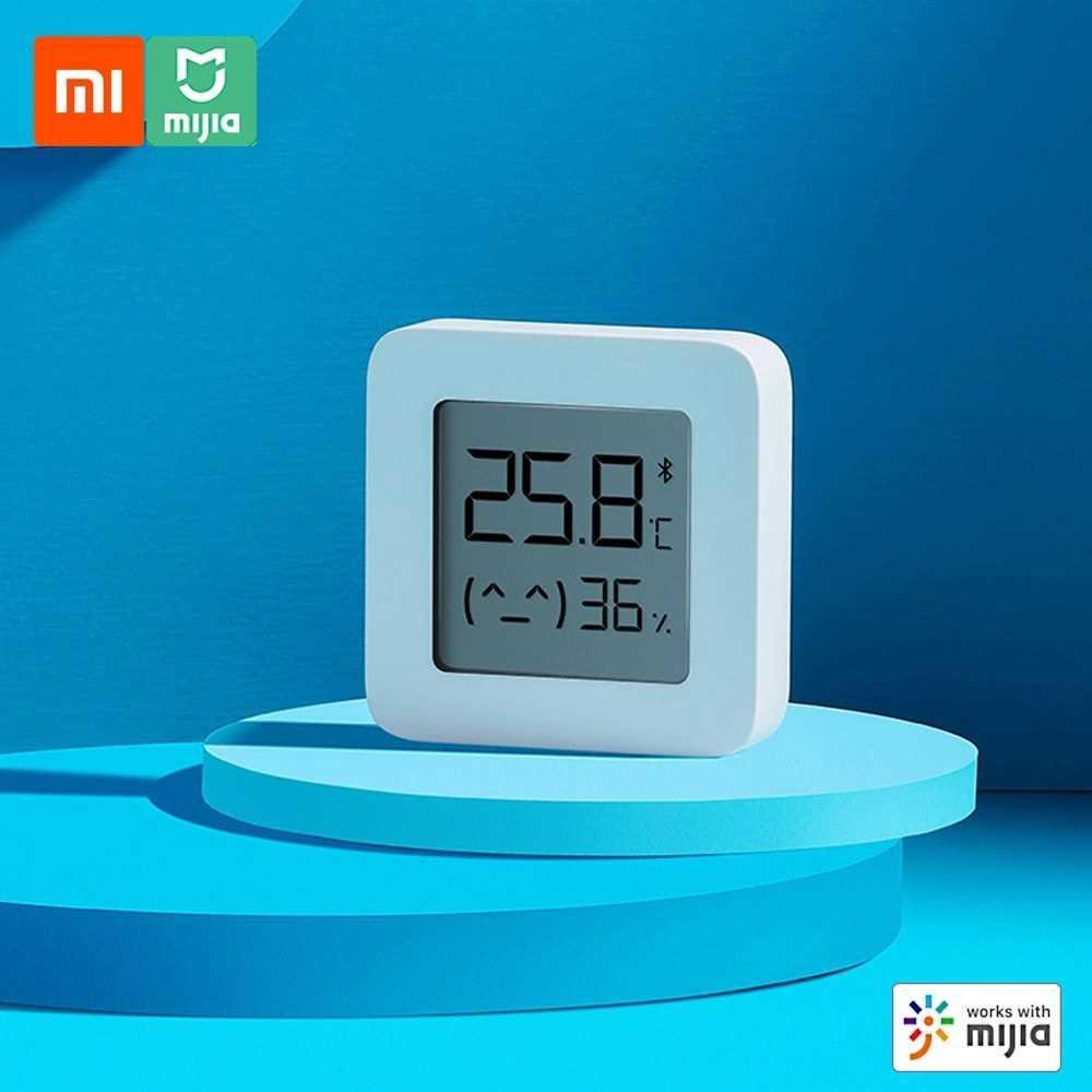 Xiaomi BT Thermometer 2 Wireless Smart Electric Digital Hygrometer Humidity Sensor Work with Mijia APP (White)
