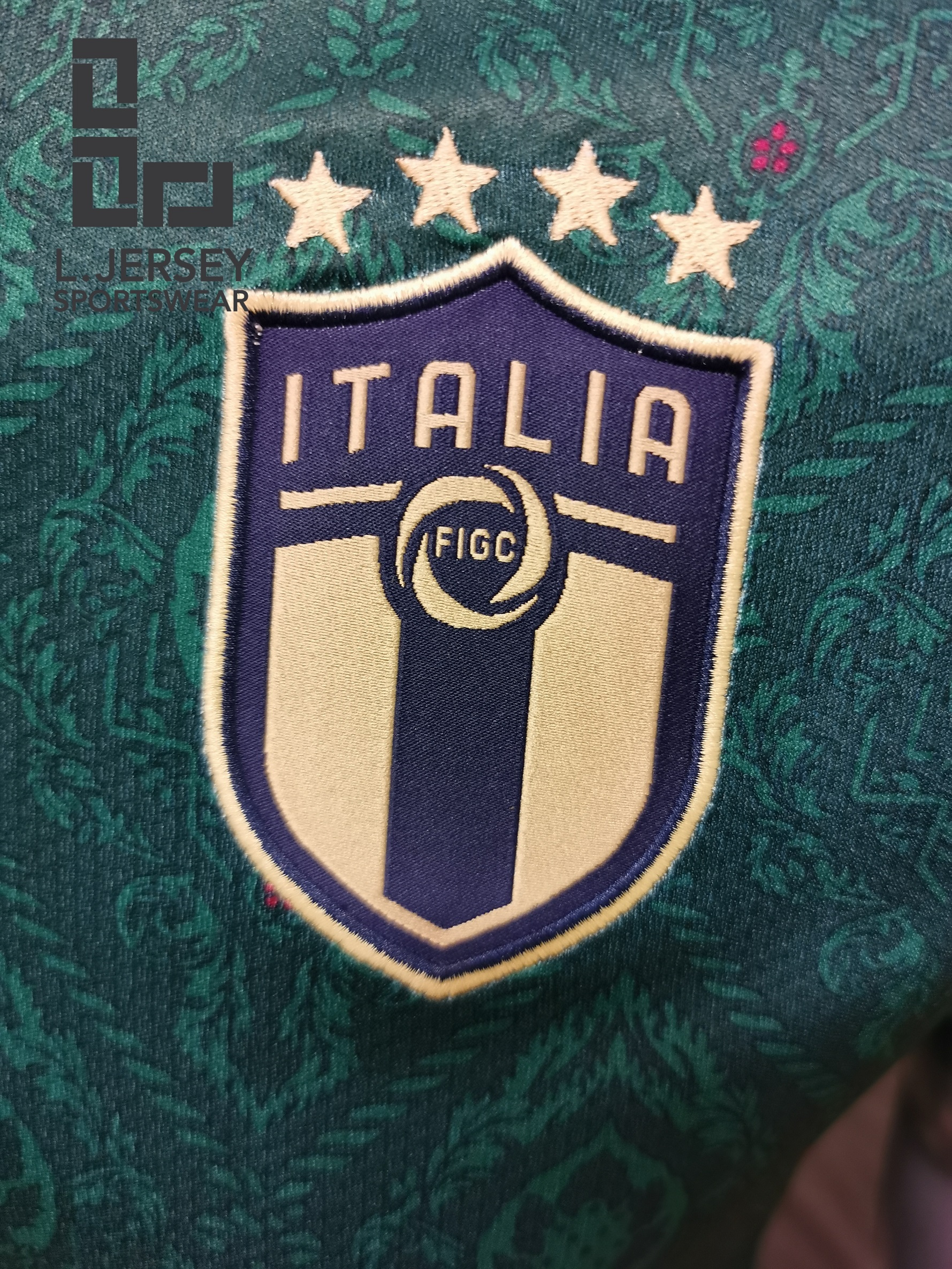 Italy Men 3rd Season 20/21 DRYCELL Fans Issue Jersey with #19 BONUCCI + Patch Printing