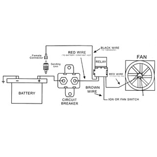 Electric Fan Thermostat Wiring Diagram from cf.shopee.com.my