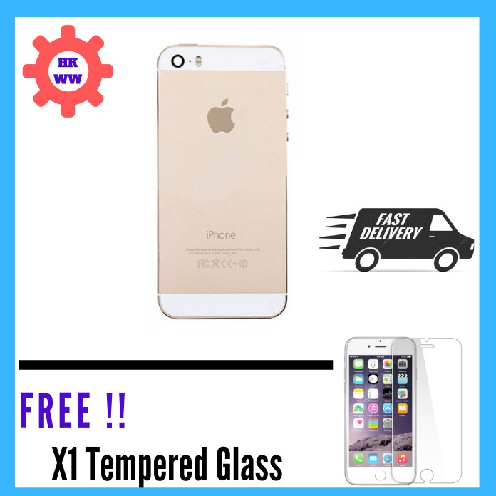 ORIGINAL IPHONE 5 5S 5SE HOUSING BODY BATTERY PARTS GOLD WITH IMEI NUMBER