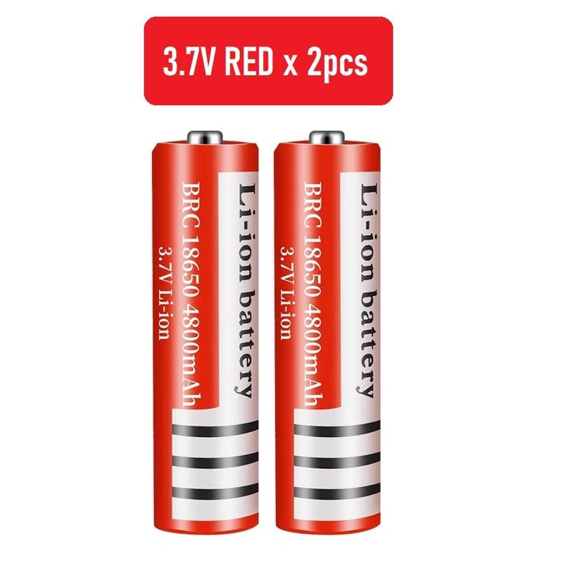 [ READY STOCK ]  ( 4pcs 3.7v FREE Dual Slot Charger ) Solar 18650 Rechargeable Battery Pengecas Bateri Jualan Murah Vape