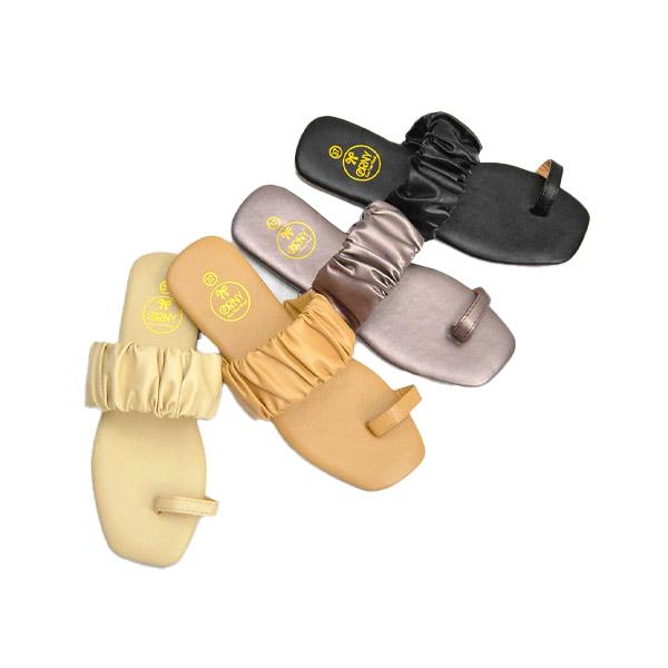 ของแท้ 💯 ORNY(ออร์นี่) ® รองเท้าบาร์บี้สวมนิ้ว รองเท้าแตะนุ่มๆ หนังย่น ทรงน่ารักมาก รุ่น OY295