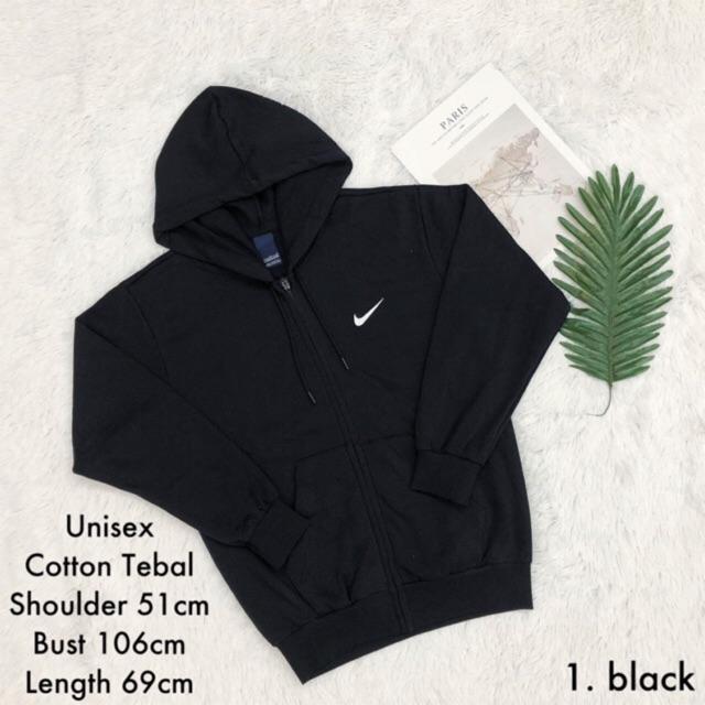 768cb4b8dc1c6 Long Sweater Hoodie Zip Cotton Tebal Unisex