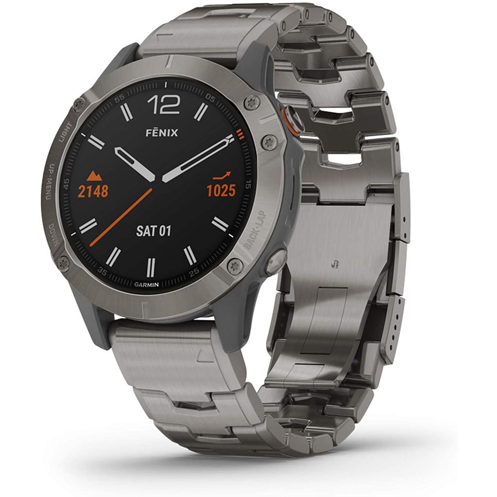 Garmin Fenix 6 Sapphire, Premium Multisport GPS Watch, features Mapping, Music, Grade-Adjusted Pace Guidance