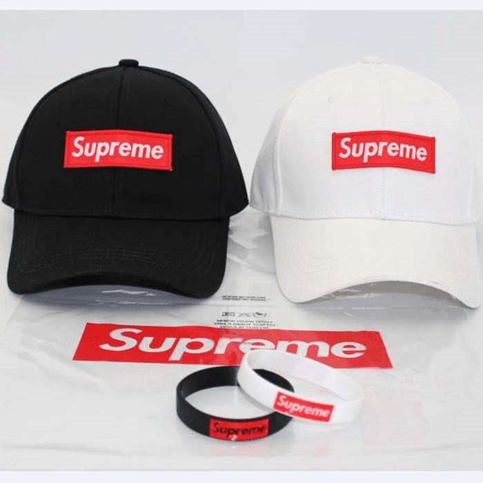 0cd01943b92 supreme baseball cap men and women bend eaves adjustable couple Topi rata