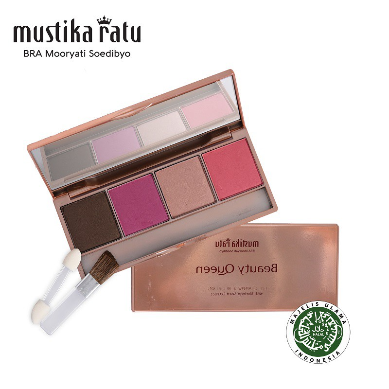 Mustika Ratu Beauty Queen Highly Pigmented Eye Shadow & Blush On 03 - 12gr