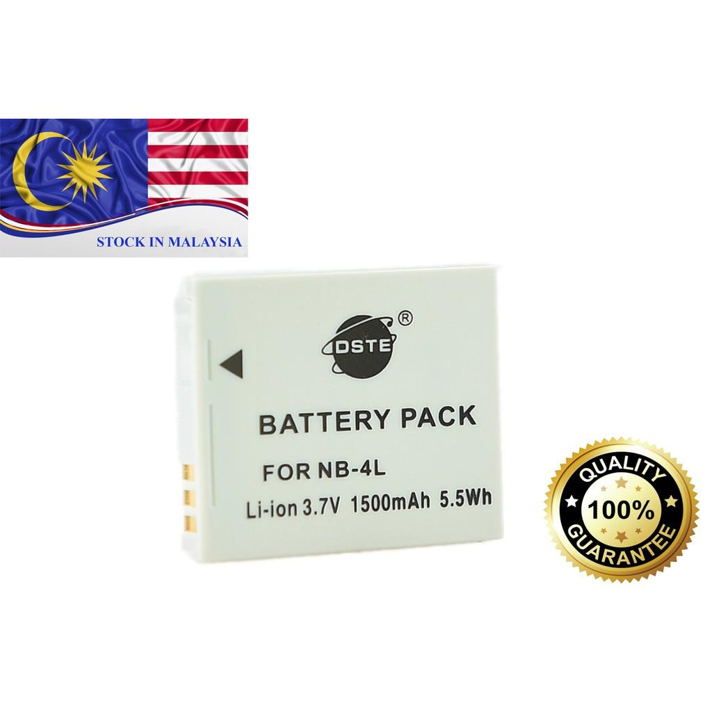 DSTE NB-4L Canon PowerShot SD40 SD200 SD300 SD400 SD430 SD450 SD600 SD630 SD750 (Ready Stock In Malaysia)