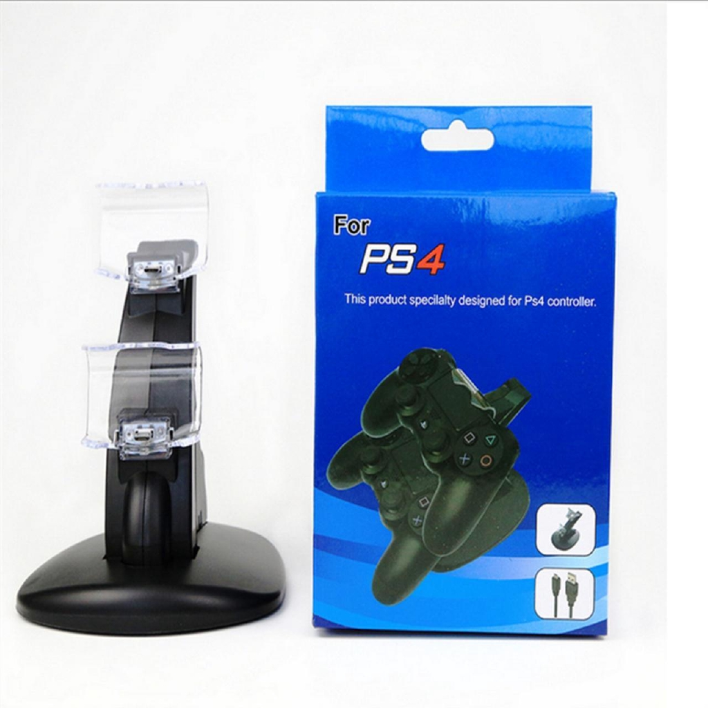Gaming Controller LED Charging Stand USB Charger Dock For Sony PS4