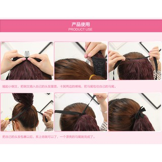 Short Drawstring Ponytail Fluffy Small Short Hair Ponytail Extension Hairpiece Wigs Shopee Malaysia