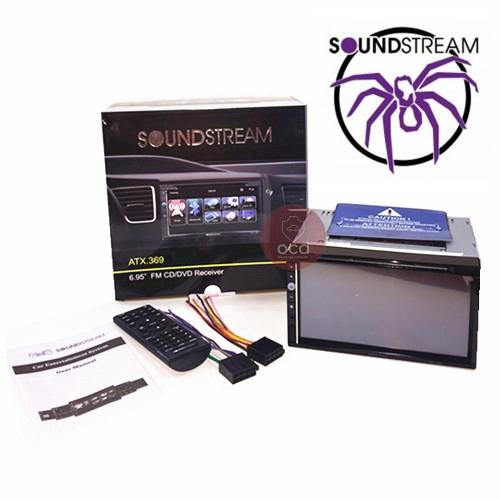 "SOUNDSTREAM 6.95""Screen Double Din DVD Player MP5,4,3 2/USB (ATX.369)"