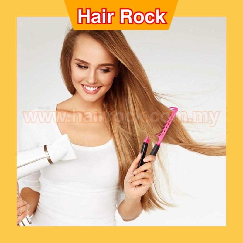 Salon Use hair straightening brush V comb (7005)