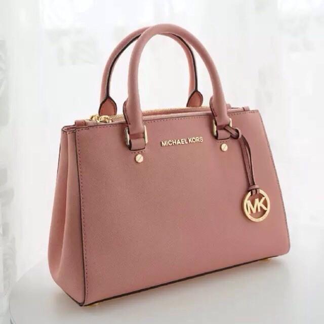 16eca887c013 (Premium Quality) Michael Kors MK Savannah Saffiano Effect Tote / Sling Bag  | Shopee Malaysia