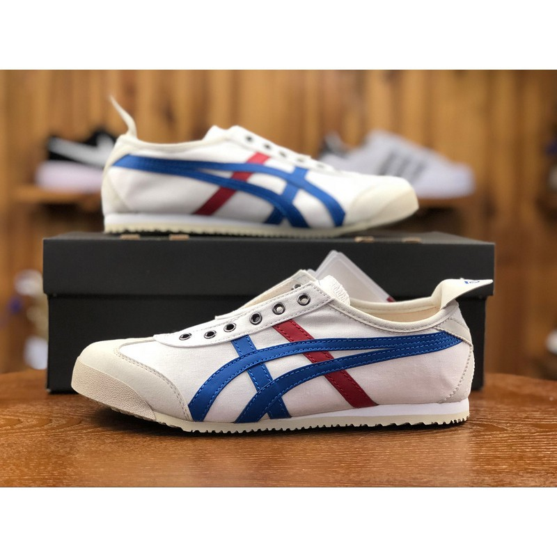 separation shoes 08da7 8ac00 Ready Stock Asics Onitsuka Tiger SLIP-ON MEXICO 66 TH1B2N lazy shoes  original