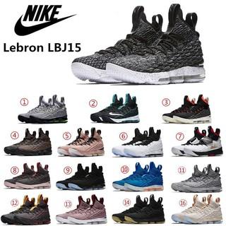 f4393db0be266 ZZ 2018 New Nike Lebron 15 LBJ15 Breathable Men s Basketball Shoes Black white