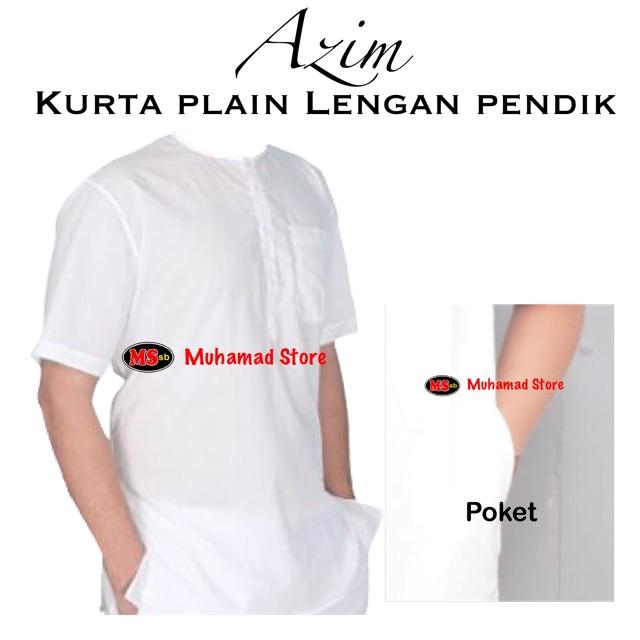 Kurta Azim Plain Lengan Pendik