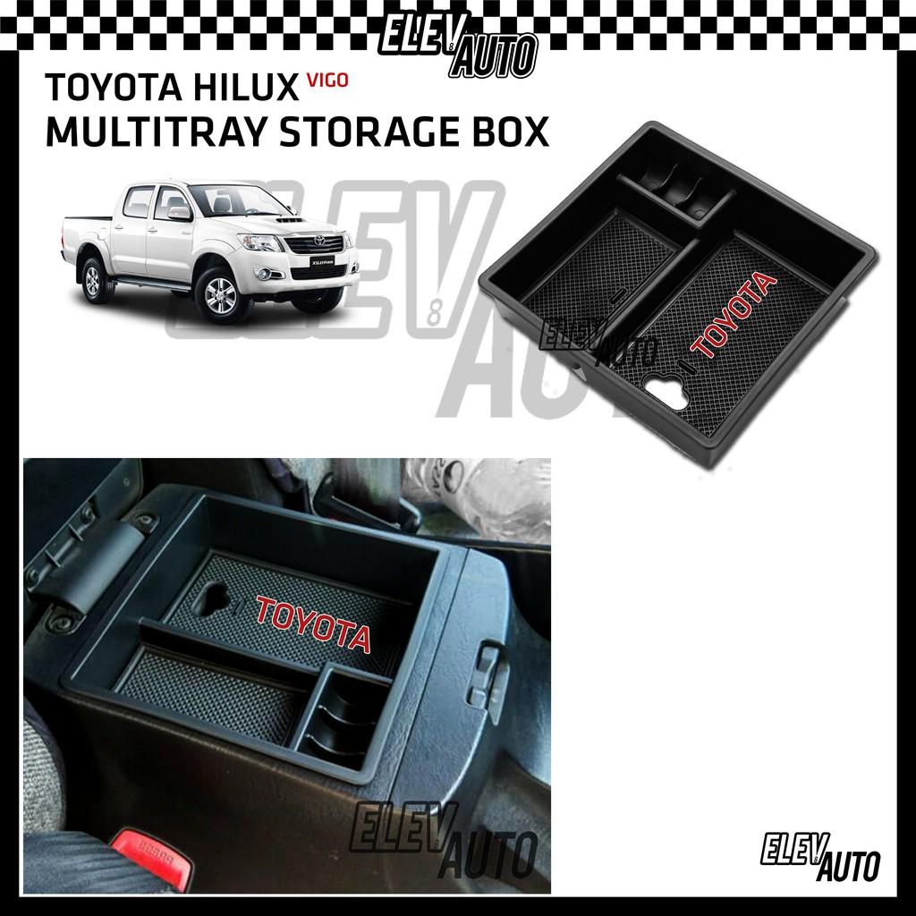 Toyota Hilux Vigo 2008 - 2015 Armrest Center Console Multitray Arm Rest Tray Storage Box KUN25 2009 2010 2011 2012 2013