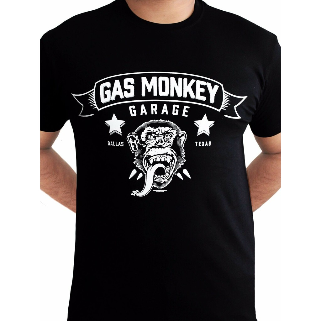 GAS MONKEY GARAGE CIRCULAR BLOOD SWEAT BEERS FAST LOUD DALLAS TEXAS T TEE SHIRT